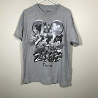 RETRO DISNEY T SHIRT SIZE USA L GREY MICKEY MOUSE 2010 SHORT SLEEVE OFFICIAL TOP
