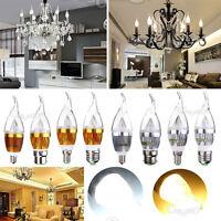 E12 E14 E27 B22 Dimmable 3W 6W 9W LED Gloden Silver Chandelier Candle Light Bulb
