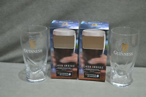 2x Guinness Six Nations Rugby Harp 450ml 16oz Beer Tulip Glass In Gift Box 2021