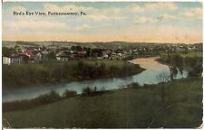 Bird's Eye View of Punxsutawney PA Postcard 1915