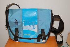 "Timbuk2 14.5"" Messenger Bag w/ Luna Whole Nutrition Company Logo Light Blue"