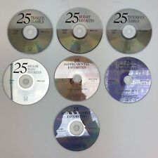 Lot of 7 Classical Music Favorites CDs - Mozart - Tranquil - Instrumental