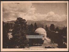 Mt. Wilson Solar Observatory Reflecting Telescope 1917 Photogravure Print