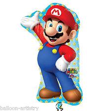"""33"""" Super Mario Bros Niños Personaje Globo de la hoja Supershape Fiesta Mario"""
