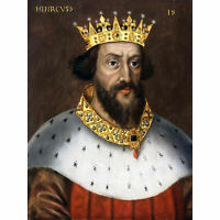 Portrait King Henry I England Painting Royal Historic XL Canvas Art Print