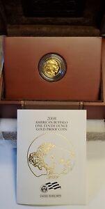 2008 1/10 oz Proof American Gold Buffalo w/Box & COA (OGP)