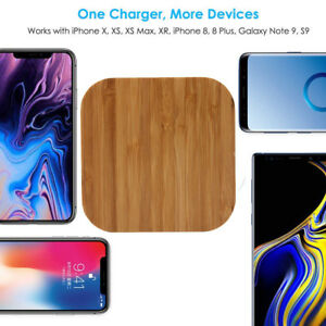Wireless Slim Natural Wood Charger Mat Charging Pad For Iphone XS/XS Max/XR CH