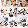 Boho Geometric Women Leopard Round Dangle Drop Hook Ear Stud Earrings Jewelry