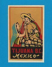 "VINTAGE ORIGINAL 1948 SOUVENIR ""TIJUANA B.C."" MEXICO SENORITA TRAVEL DECAL ART"