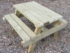 Childrens Wooden Garden Sturdy Picnic Table Bench