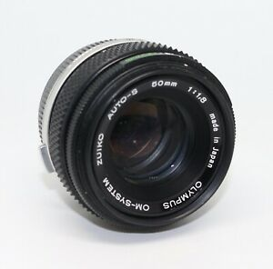 Olympus Zuiko Auto-S 50mm f/1.8 Lens with case - Olympus OM-System - Read