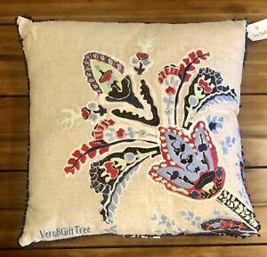 Vera Bradley Linen Toss Throw Pillow ROMANTIC PAISLEY NWT SEALED New RARE FIND