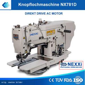 Knopflochmaschine Wäscheknopflochmaschine 781D - direkt drive Motor - aufgebaut