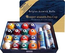 New Belgian SUPER ARAMITH PRO Value Pack Pool Balls Set BRAND NEW Billiard SAVP