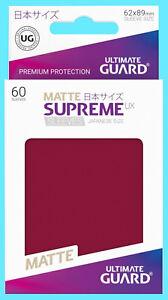 60 ULTIMATE GUARD SUPREME UX MATTE BURGUNDY JAPANESE Card SLEEVES Deck Protector