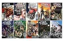 Attack on Titan English Manga Anime Graphic Novel Series Complete Book 1-10 Set!