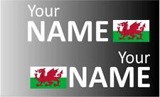 Welsh Rally Car Name   Handed decal sticker graphics
