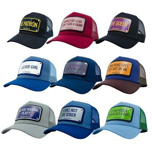Men's John Hatter Catchphrase Quotes Mesh Baseball Cap Trucker Snapback Hat