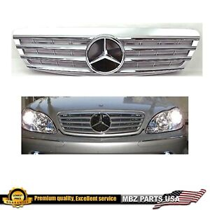 2000 2001 2002 S500 S430 S55 grille Silver chrome star AMG emblem W220 S-Class