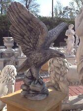 Gartenfigur, Adlerfigur, Steinstatue, H.59 cm Steinguss, Vögel, Adler, Tierfigur