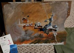 John Berkey Study Oil on Board 1st Prize Winner Spaceship