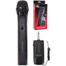 Easy Karaoke EKS-717 Black Wireless Microphone RRP £20