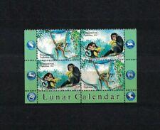 Tadjikistan Tadschikistan 2016 Minr 2x 723-24 ZD ** / mnh Affe monkey lunar year