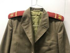 Soviet Russian Army Military Uniform Jacket USSR BB Red Shoulder