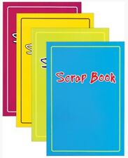 Set Of 4 Scrap Books 12 Pages Per Book Colour Paper Laminated Covers