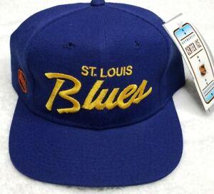 New Vintage 90s St Louis Blues Single Line Script Sports Specialties Hat Cap