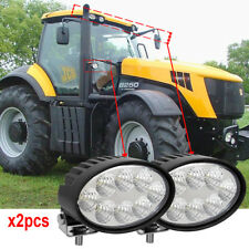 Oval 40W CREE led tractor work light For John Deere Massey Case New Holland x2