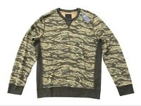 Abercrombie Fitch Jeans Mens Brown/ Green Tiger Army Camo Pullover Sweatshirt