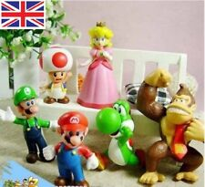 6pcs SUPER MARIO BROS GIOCO Action Figure Cake Topper Doll Set Bambini Boy Girl Toy