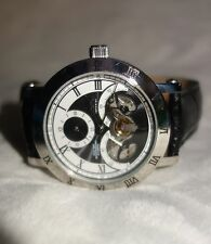 Croton Men's Imperial  Black Leather Watch new $750