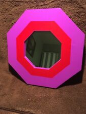 Mirror - Octagon Shaped Multi-Colored Wood Frame