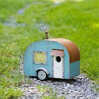 Wood Metal RV Travel Trailer 10 x 13 Inch Birdhouse