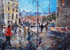 "SERA KNIGHT ORIGINAL WATERCOLOUR ""Evening Approaching, London"" PAINTING"