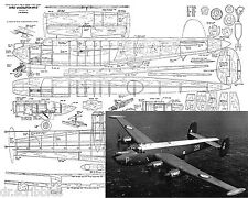 Model Control Line Airplane Plans 1/24 Scale Shackleton M.R.3. Article & plan