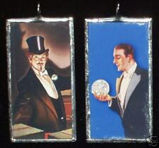 MAGIC MAN DOUBLE SIDED  GLASS-ART PENDANT NECKLACE