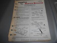 Honda Vintage Factory Service Bulletin 1984 VF1000F 9160