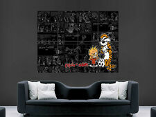 CALVIN AND HOBBES KIDS POSTER COMIC STRIP WALL ANIME ART PICTURE PRINT LARGE