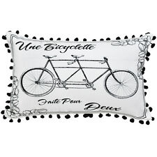 Retro Bicycle Cushion Cover - 30x50cm