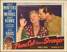 1952 Phone Call From A Stranger Lobby Card Shelley Winters Gary Merrill