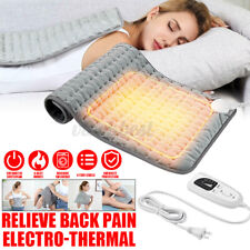 6 Modes Electric Heating Pad Heat Therapy Fast Neck Shoulder Back Pain Relief AU