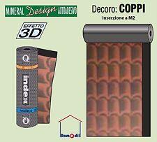 Guaina bituminosa ardesiata impermeabilizzante autoadesiva coppi tegole 3D a MQ