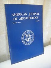 AMERICAN JOURNAL of ARCHAEOLOGY 1977 N°2