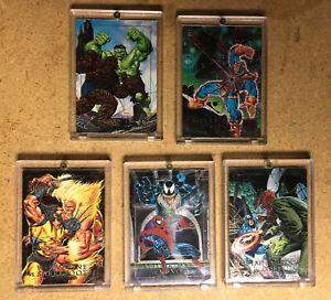 1992 Marvel Masterpieces Trading Cards COMPLETE Holofoil THANOS VENOM WOLVERINE