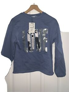 Girls Zara Jumper Sweatshirt Blue Age 13 14