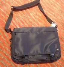 "NWT Swiss Gear Black Mainline 16"" Flapover Laptop Messenger Bag W Tablet Pocket"