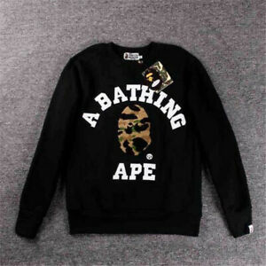 A Bathing Ape Shark Head Mens Hoodie Sweat Japan Bape Sweater Crew Neck Pullover